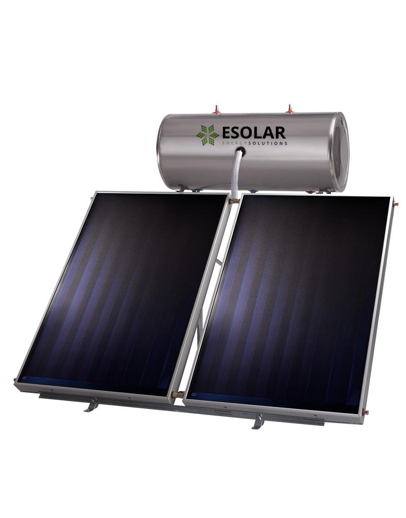 Ηλιακός Θερμοσίφωνας INOX 300 Lt με επιλεκτικό συλλέκτη FULL PLATE