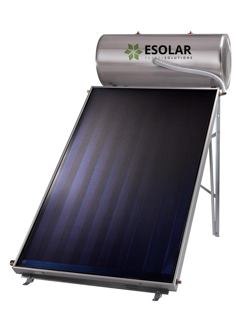 Ηλιακός Θερμοσίφωνας INOX 120 Lt με επιλεκτικό συλλέκτη